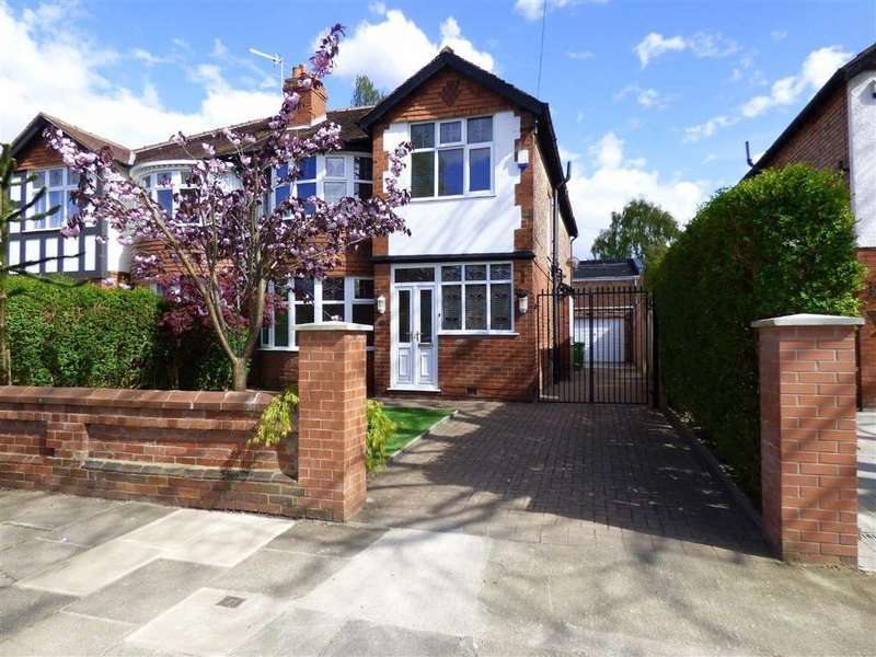 4 Bedrooms Semi Detached House for sale in Sandhurst Avenue, West Didsbury, Manchester, M20