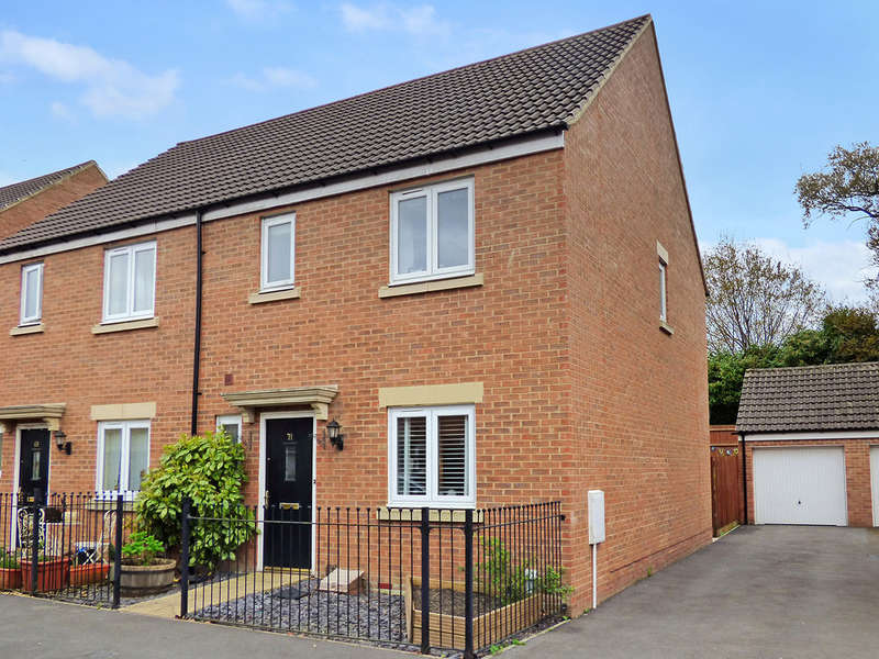 3 Bedrooms Semi Detached House for sale in Swaledale Road, Warminster