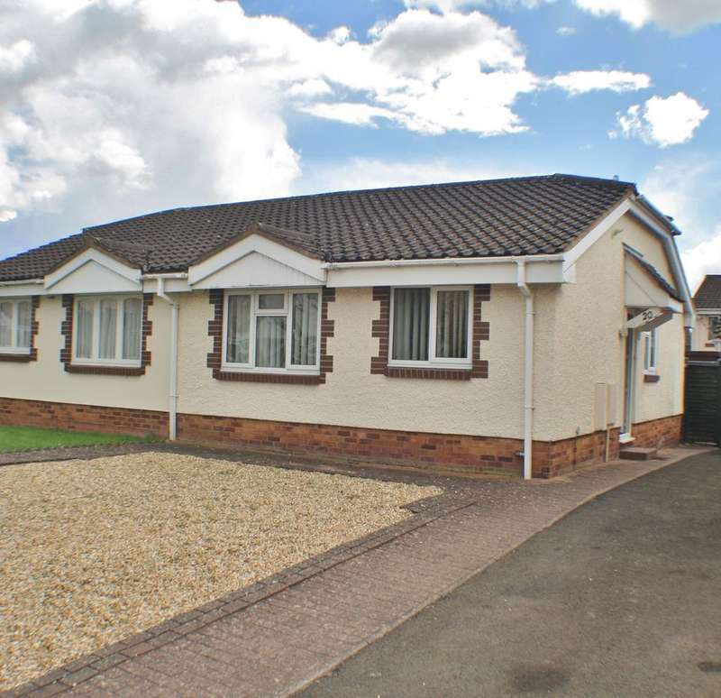2 Bedrooms Semi Detached Bungalow for sale in Haldon Way, Bobblestock, Hereford, HR4