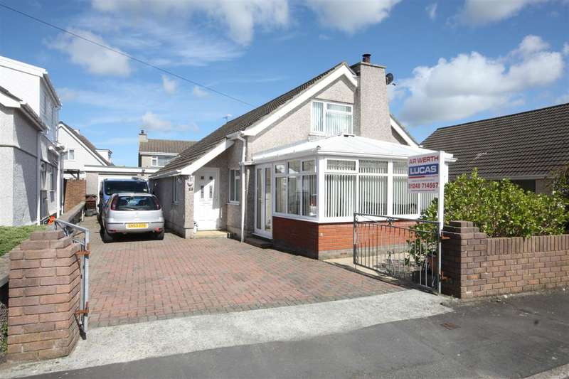 4 Bedrooms Detached Bungalow for sale in Lon Hedydd, Llanfairpwll