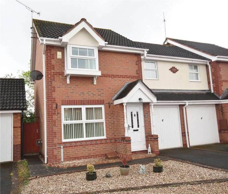 3 Bedrooms End Of Terrace House for sale in Stirling Avenue, Berkeley Beverborne, Worcester, Worcestershire, WR4