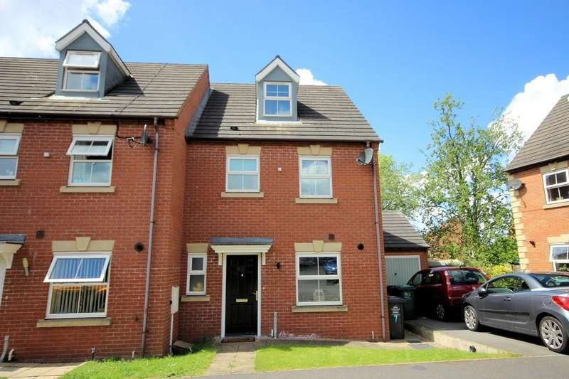 4 Bedrooms End Of Terrace House for sale in Woodyard Close, Castle Gresley