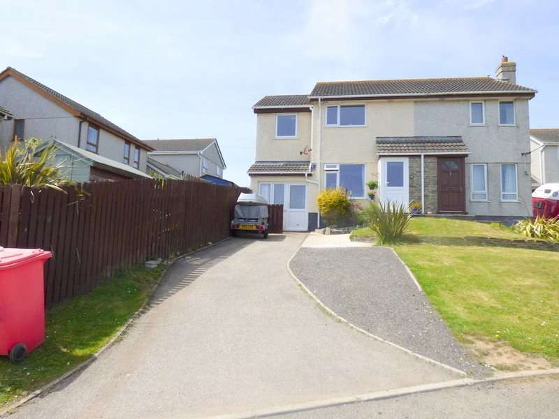 3 Bedrooms Semi Detached House for sale in St Georges Hill Close, Perranporth