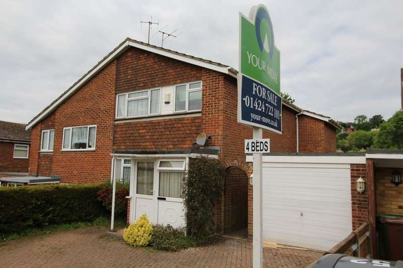 4 Bedrooms Semi Detached House for sale in Birch Way, Hastings, TN34