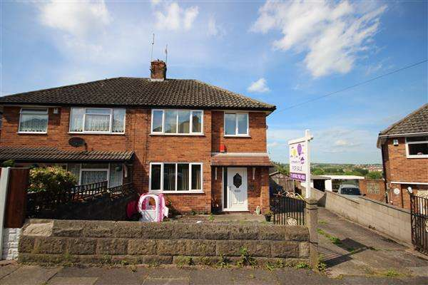 2 Bedrooms Semi Detached House for sale in Alwyn Crescent, Sneyd Green, Stoke-on-Trent