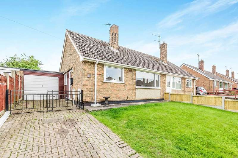 2 Bedrooms Semi Detached Bungalow for sale in Station Road, North Wingfield, Chesterfield, S42