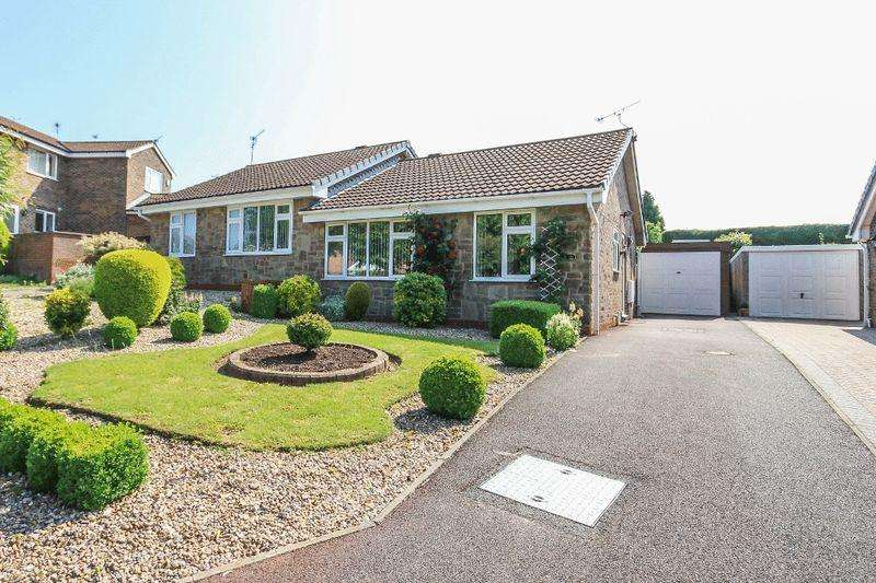 2 Bedrooms Semi Detached Bungalow for sale in THURSTONE FURLONG, CHELLASTON