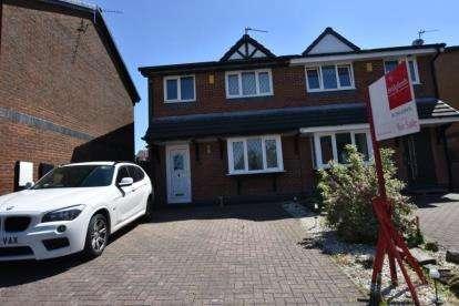 3 Bedrooms Semi Detached House for sale in Abbott Clough Avenue, Knuzden, Blackburn, Lancashire