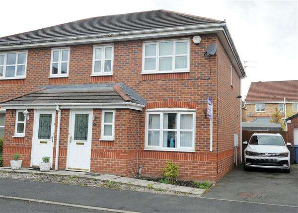 3 Bedrooms Semi Detached House for sale in 4 Rixtonleys Drive, Irlam M44 6RP