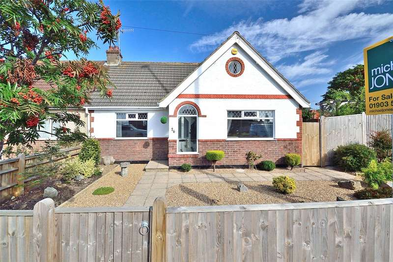 2 Bedrooms Semi Detached Bungalow for sale in Upper Brighton Road, North Lancing, West Sussex, BN15