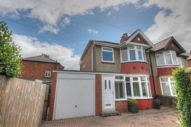 3 Bedrooms Semi Detached House for sale in Chatsworth Gardens, Westerhope, Newcastle Upon Tyne, NE5
