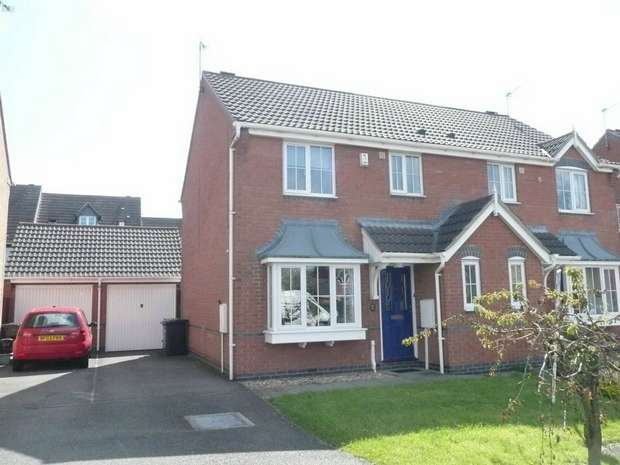 3 Bedrooms Semi Detached House for sale in Lutterworth