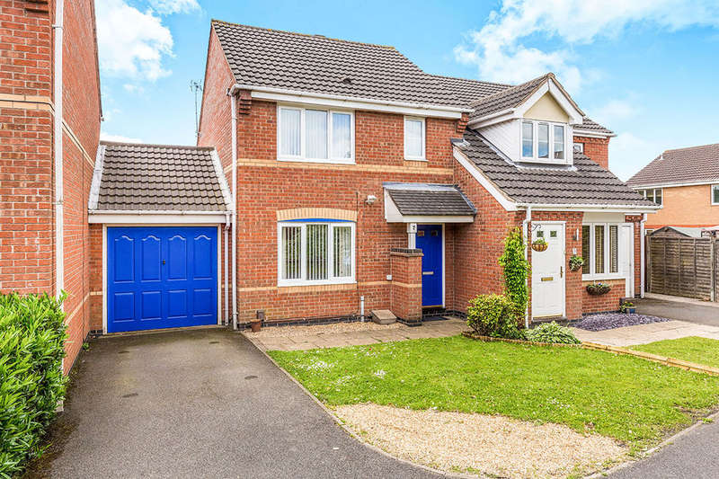 3 Bedrooms Semi Detached House for sale in Headingley Close, Coalville, LE67