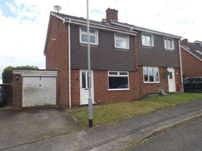 3 Bedrooms Semi Detached House for sale in Bodmin Avenue, Hucknall, Nottingham, Nottinghamshire