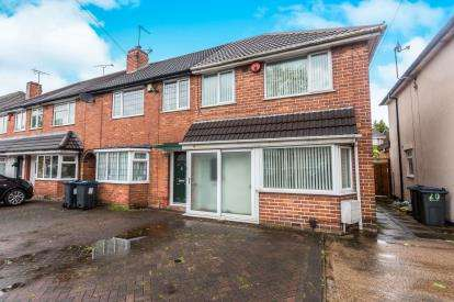 3 Bedrooms End Of Terrace House for sale in Hathersage Road, Great Barr, Birmingham, West Midlands