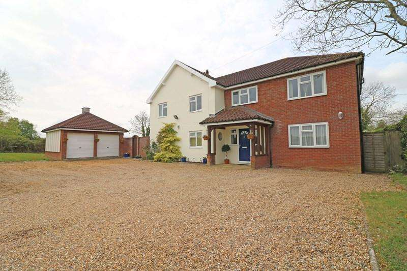 5 Bedrooms Detached House for sale in Milestone Lane, Wicklewood, Wymondham