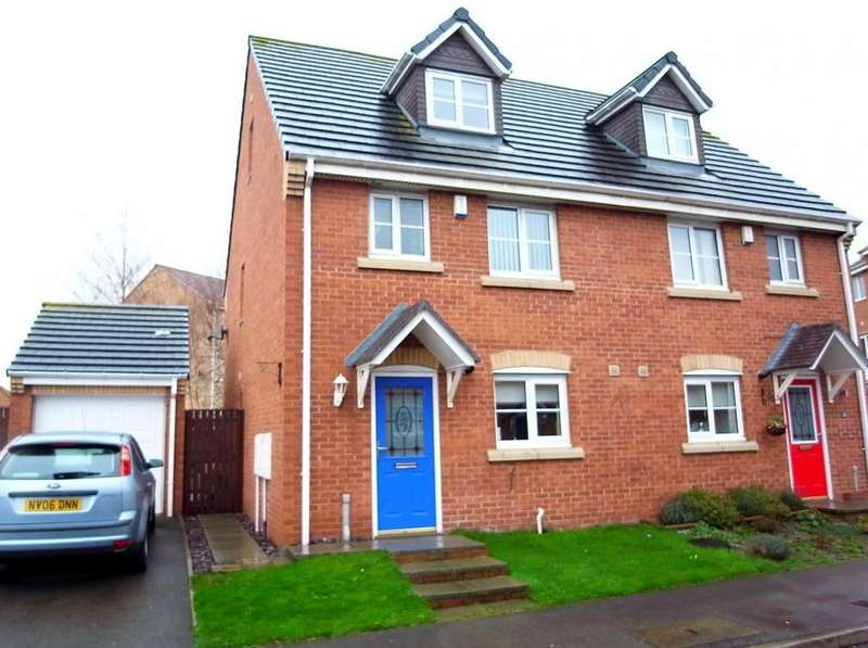 4 Bedrooms Semi Detached House for sale in Nightingale Drive, Stockton-On-Tees, TS19