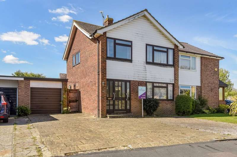 3 Bedrooms Semi Detached House for sale in Blondell Drive, Rose Green, Bognor Regis, PO21