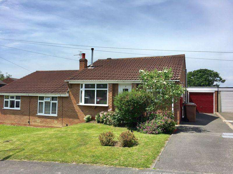 2 Bedrooms Semi Detached Bungalow for sale in Crich Way, Newhall