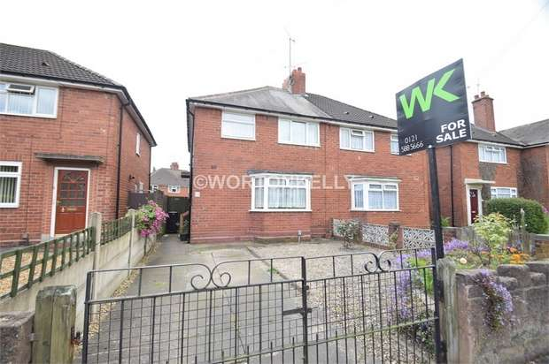 3 Bedrooms Semi Detached House for sale in Beverley Road, WEST BROMWICH, West Midlands