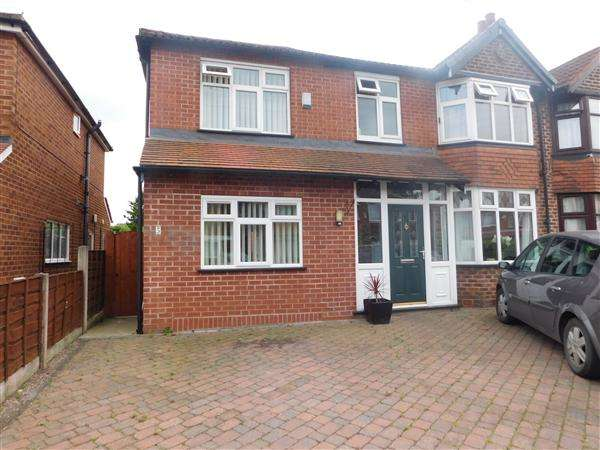 4 Bedrooms Semi Detached House for sale in Merwood Avenue, Heald Green, Stockport