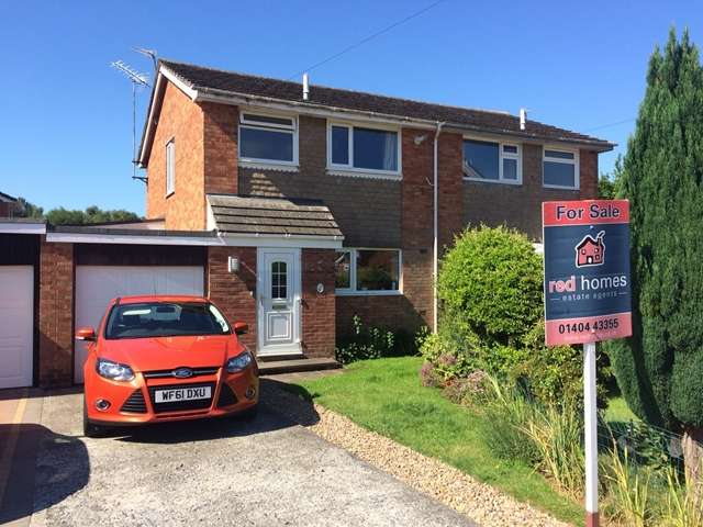 3 Bedrooms Semi Detached House for sale in Canterbury Close, Feniton