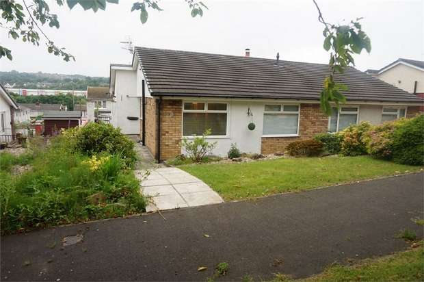 2 Bedrooms Semi Detached Bungalow for sale in Yew Grove, Woodfieldside, BLACKWOOD, Caerphilly