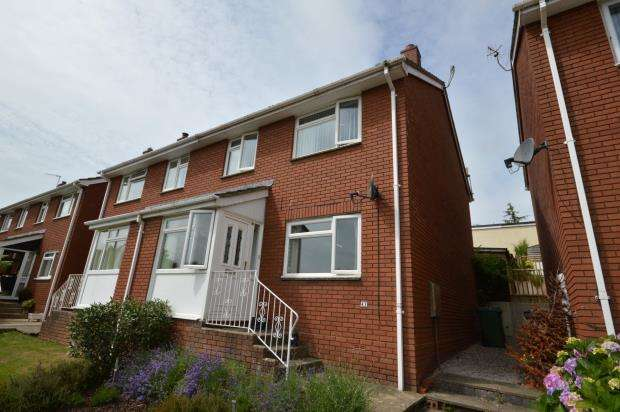 3 Bedrooms Semi Detached House for sale in Headway Rise, Teignmouth, Devon