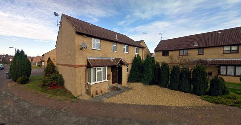 2 Bedrooms Cluster House for rent in Senwick Drive, Wellingborough, Northamptonshire. NN8 1SE