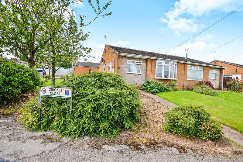 2 Bedrooms Semi Detached Bungalow for sale in Cricket Close, Kirkby-In-Ashfield, Nottingham, NG17