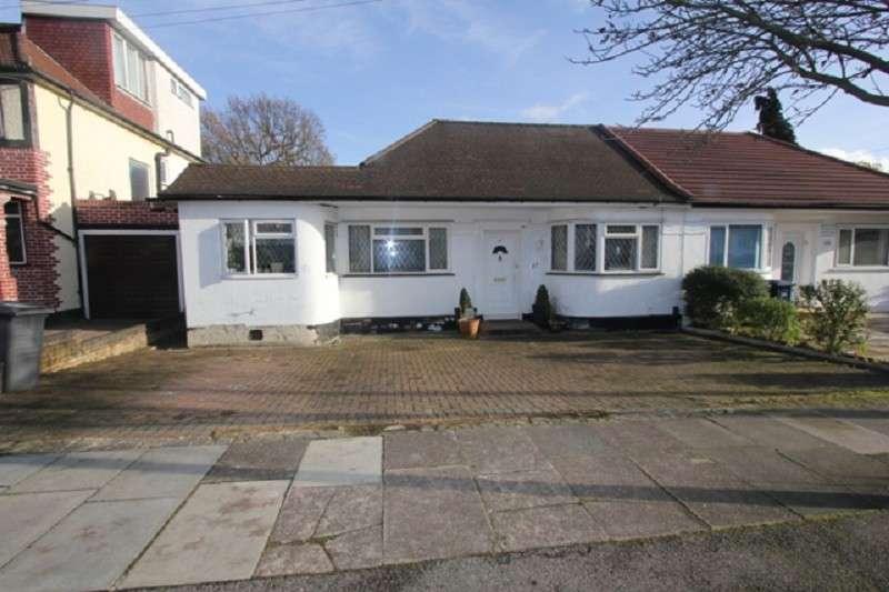 3 Bedrooms Semi Detached Bungalow for sale in Highview Gardens, Edgware, Middx. HA8 9UB