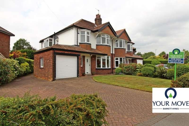 4 Bedrooms Semi Detached House for sale in Sandhill Crescent, Leeds, LS17