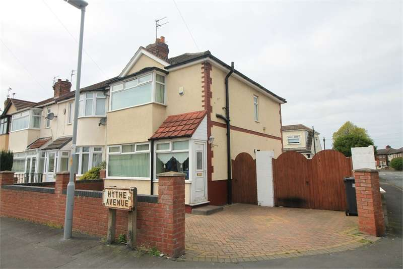 3 Bedrooms End Of Terrace House for sale in Hythe Avenue, Litherland, Merseyside