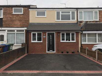 3 Bedrooms Terraced House for sale in Chalfont Avenue, Cannock, Staffordshire