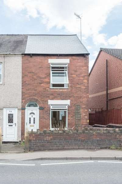 2 Bedrooms End Of Terrace House for sale in Derby Road, Chesterfield, Derbyshire, S40