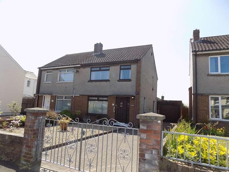 3 Bedrooms Semi Detached House for sale in Litchard Cross, Litchard, Bridgend. CF31 1NY