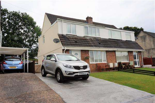 3 Bedrooms Semi Detached House for sale in Teglan Park, TYCROES, Ammanford