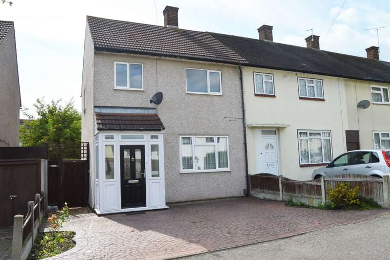 2 Bedrooms End Of Terrace House for sale in Charlbury Crescent, Harold Hill