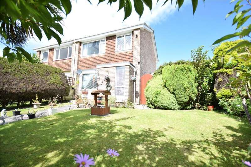3 Bedrooms Semi Detached House for sale in Tregarrian Road, Tolvaddon, Camborne