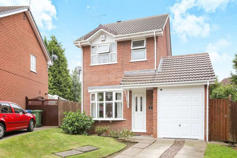 3 Bedrooms Detached House for sale in Fowler Close, Perton, Wolverhampton, WV6