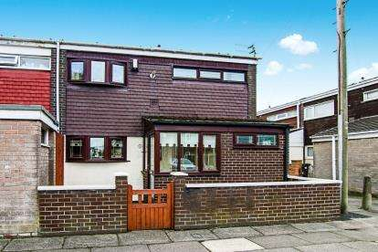 3 Bedrooms End Of Terrace House for sale in Granams Croft, Bootle, Liverpool, Merseyside, L30