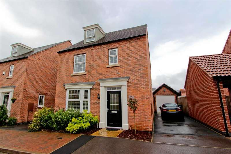 4 Bedrooms Detached House for sale in Pickwell Drive, Syston, Leicester