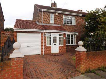 2 Bedrooms Semi Detached House for sale in Biddick Hall Drive, South Shields, Tyne and Wear, NE34
