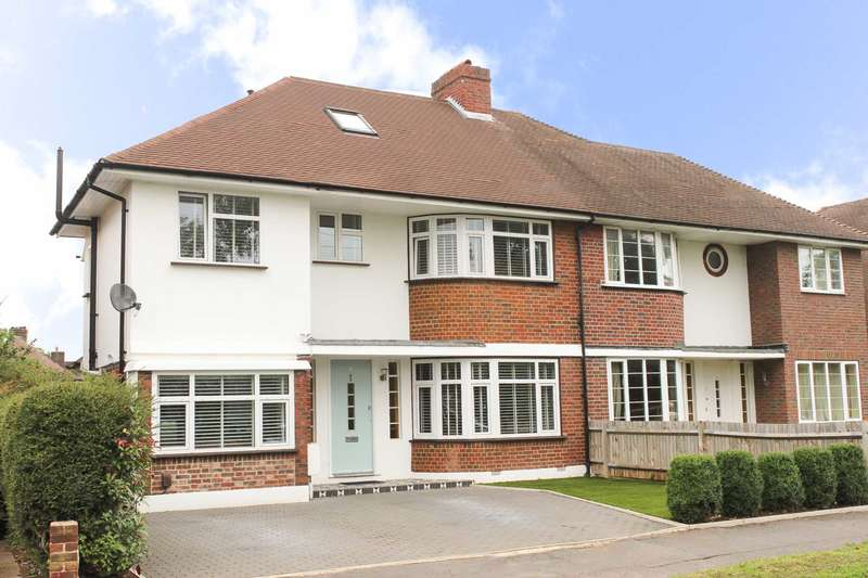 4 Bedrooms Semi Detached House for sale in Denleigh Gardens, Thames Ditton