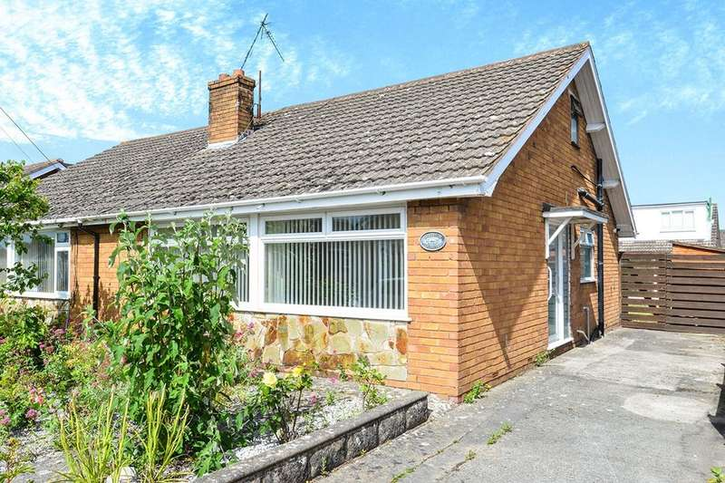 3 Bedrooms Semi Detached Bungalow for sale in Canolblas Avenue, Bodelwyddan, Rhyl, LL18