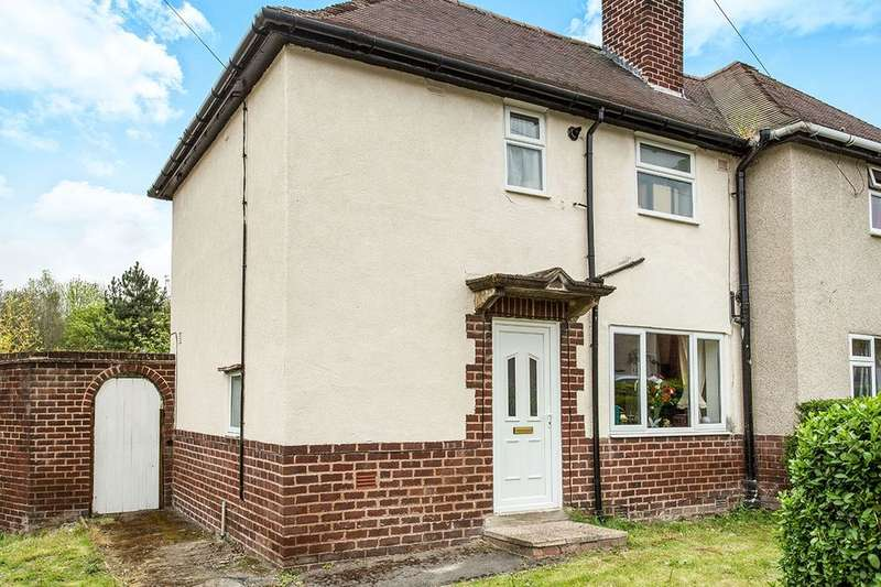2 Bedrooms Semi Detached House for sale in Walgrove Road, Chesterfield, S40