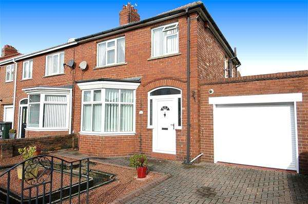 3 Bedrooms Semi Detached House for sale in Wembley Avenue, Monkseaton