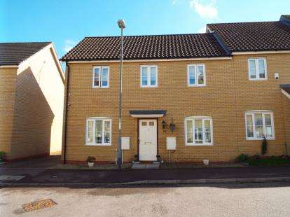 3 Bedrooms End Of Terrace House for sale in Christie Drive, Hinchingbrooke Park, Huntingdon, Cambs