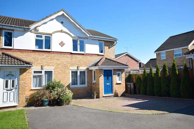 3 Bedrooms Semi Detached House for sale in Challinor, Church Langley, Harlow, Essex, CM17 9XE