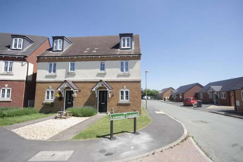 4 Bedrooms Semi Detached House for sale in Lawford Gardens, Gobowen, Oswestry